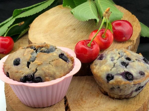 muffins de coco veganos
